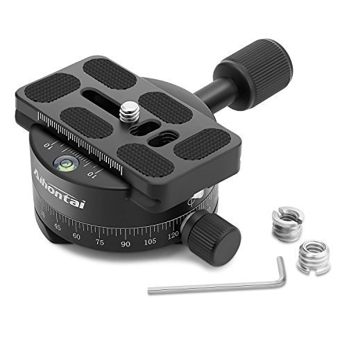 Aihontai 360 ° Panoramic Head Mount for Professional Tripod for Camera with Universal Quick Release Plate Compatible for RRS/Arca-Swiss Ball Head Quick Release Plate, Tripod for Camera (X-46)