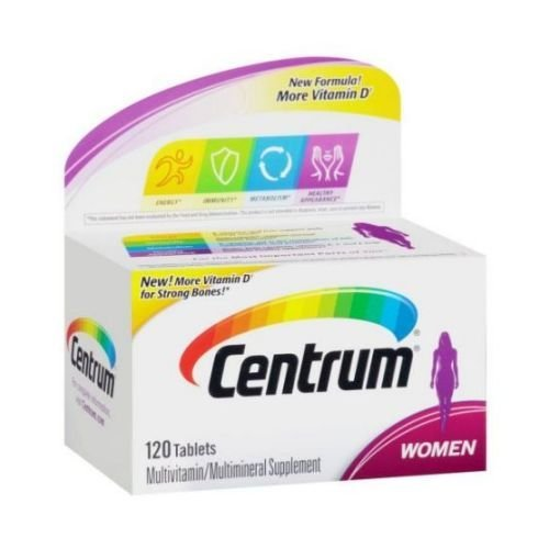 Centrum Women Multivitamin Multimineral Supplement Tablets, 120 per Unit – 12 per case.