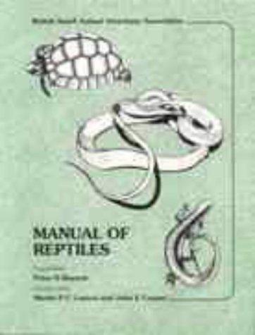 Manual of Reptiles (BSAVA British Small Animal Veterinary Association) por P.H. Benyon,etc.