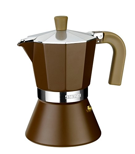 Monix M670006 Cafetera Italiana, 6 Tazas, Aluminio, Marrón: Amazon ...