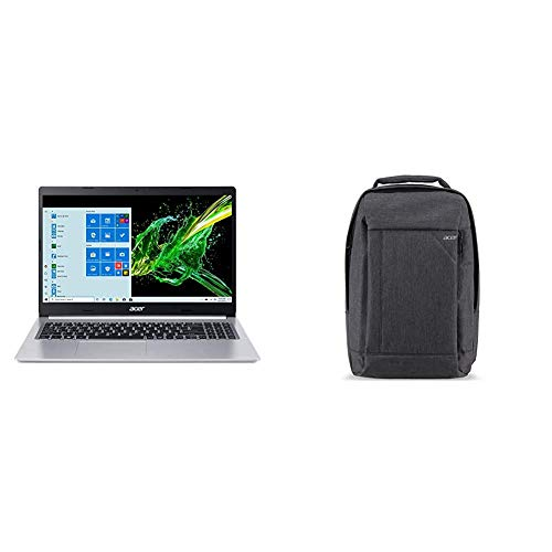 """Acer Aspire 5 A515-55-56VK, 15.6"""" Full HD IPS Display, 10th Gen Intel Core i5-1035G1, 8GB DDR4, 256GB NVMe SSD & Acer Travel Laptop Backpack"""