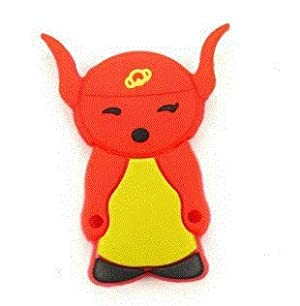 8GB Happy Cow Shaped Cartoon USB Flash Drive Red with Yellow by ozone48