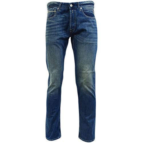 Replay Blue Grover Fit Straight Leg Jean/Denim Pants - Ma972-000-606-308-009 36/30