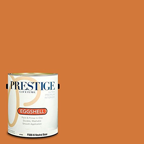 Prestige Paints P300-N-SW6650 Interior Paint and Primer in One, 1-Gallon, Eggshell, Comparable Match of Sherwin Williams Marquis Orange, 1 Gallon, SW70-Marquis