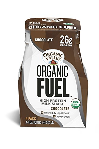Organic Valley Fuel, Organic Milk Protein Shake, Chocolate, 11 oz (Pack of 4)