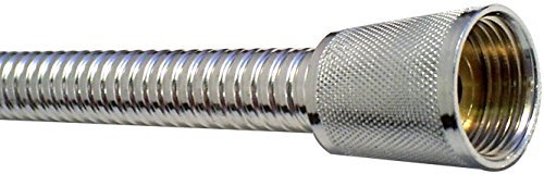 The Home Store Super8 Chrome Metal Shower Hose 1.25m 8mm Bore WRAS Approved