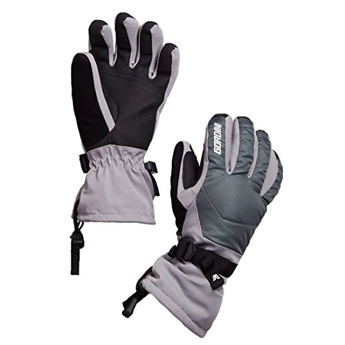 Gordini Women's Aquabloc Down Gauntlet III Gloves, Clay Grey/Gunmetal/White, Medium