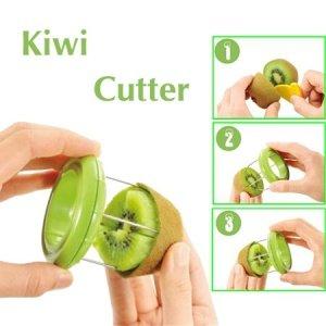 2 in 1 Kiwi Peeler Kiwi Knife Cutter Fruit Paring Tool Pack of 1 Color May
