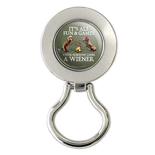 It's All Fun and Games Until Someone Loses a Wiener Dachshund Dogs Magnetic Metal Eyeglass ID Badge - Eyeglass Dachshund Holder