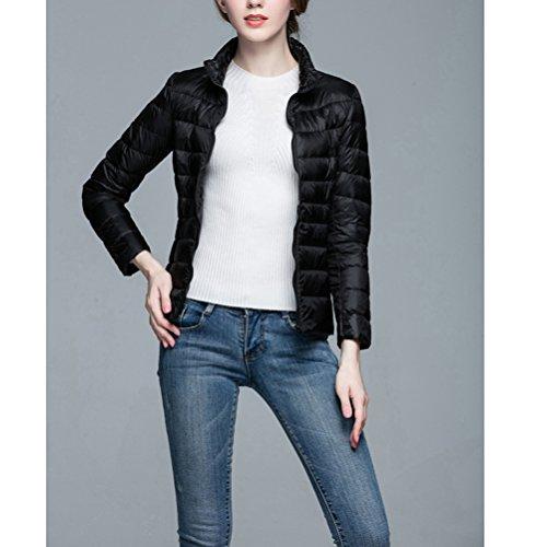 1 Women's Puffer Ultra Jacket Coat Black Down Lightweight Short n8nA7q