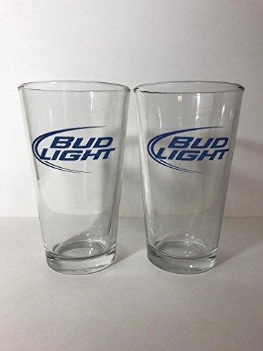 Bud Light - Iconic Logo - 16 Ounce Glass - 2 Pack
