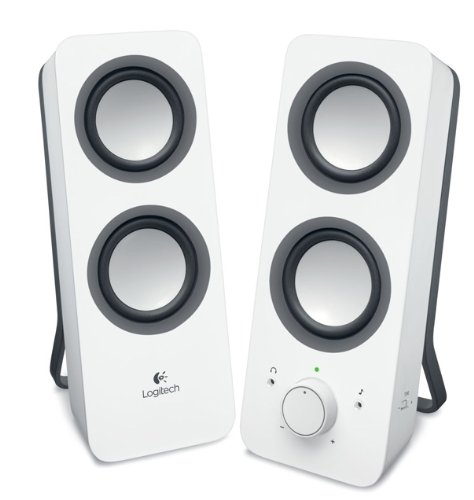 Logitech Multimedia Speakers Z200 with Stereo Sound for Multiple Devices, White