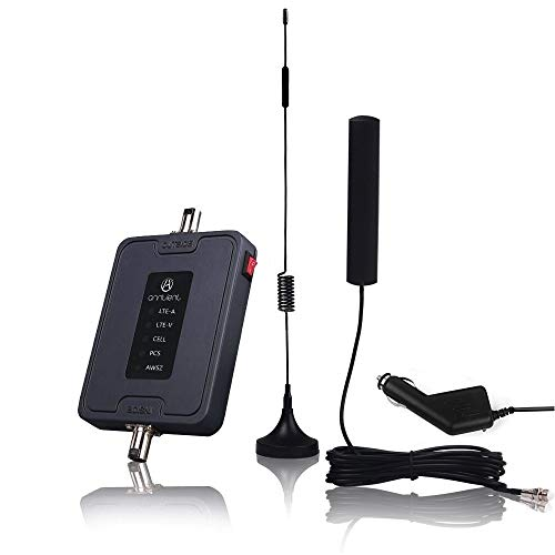 Cell Phone Signal Booster for Car, Truck and RV - Multiple Band Cellular Repeater Kit for All Carriers 2G 3G 4G LTE Boost Voice & Data Signal for Verizon AT&T T-Mobile (700/850/1700/1900MHz)