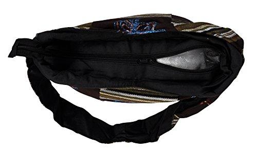 Hippie Boho Bag Di Design In Cotone Patchwork 36 X 38 Cm