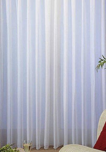 Feiner Voile Store Gardine Vorhang Bleiband Kräuselband H 250cm vers. Breiten 300cm-900cm (250cm x 750cm)