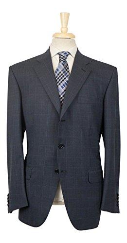 brioni Chigi 21 Navy Blue Super 150s Wool 3 Roll 2 Button Suit 56/46 R - 150s Wool 3 Button Suit