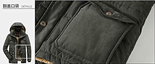 Mens Vert Chaud Outwear Jacket Hiver Capuche Pardessus A Padded Moxishop Coton Taille Fourrure Manteau Grande Épaissir Blouson Hommes Parka T08pU