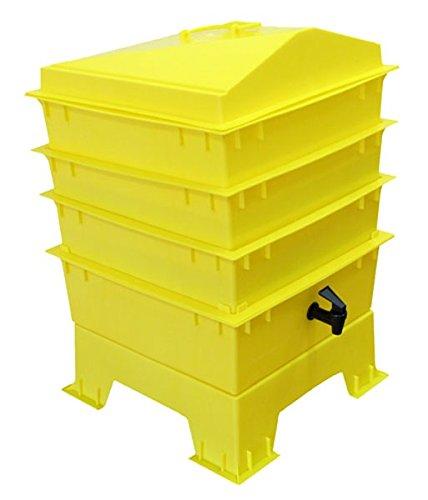 Der Tiger Rainbow Wurmkomposter 4Tablett Elektrische Gelb Original Organics