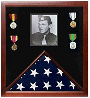product image for Military Photo Flag and Medal Display Case
