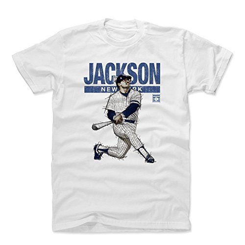500 LEVEL Reggie Jackson Cotton Shirt (X-Large, White) - New York Yankees Men's Apparel - Reggie Jackson Mr. October New - Yankees Ny White Shirt