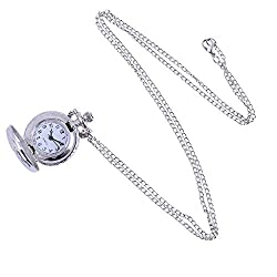 Snowlike❄ Watches for Mens, Vintage Round Dial Quartz Small Pocket Watch Classical Roman Scale Pocket Watch