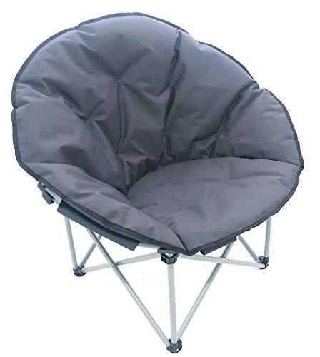 Meerweh Faltstuhl Moonchair Relaxstuhl Campingstuhl dunkelgrau