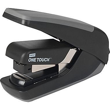staples-one-touch-cx-4-compact-flat-stack-quarter-strip-stapler-20-sheet-capacity-black-325-h-x-675-