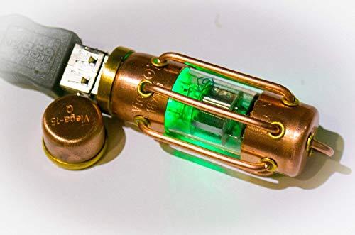 Flash drive USB 3.1 steampunk radio tube pentode USB Flash drive 3.0 32/64/128/256 Gb steampunk lamp jewelry decor industrial barrel LED copper brass ()