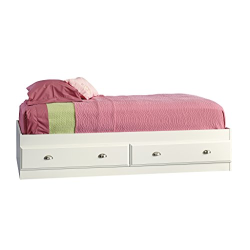 Sauder 411222 Shoal Creek Mate's Bed, Twin, Soft White -