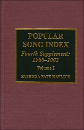 Book Popular Song Index: Fourth Supplement 1988-2002 (Popular Song Index (Supplement))