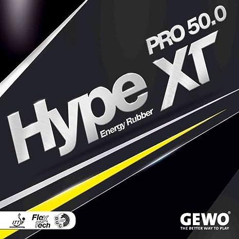 GEWO Adultos Combinado Hype XT Pro 50.02, 1mm Tenis de Mesa Combinado, Rojo, 2,1mm
