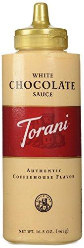 Torani White Chocolate Sauce 16.5 OZ (Pack of 4)
