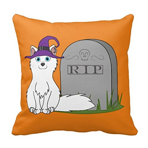 Arctic Fox With Rip Grave Stone Rcbc6479b0a494b0cb04aa956c659d5c5 I5fqz 8byvr Pillow Case (Gravestone Sayings)