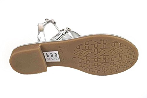 Zapatos mujer APEPAZZA Sandalias plata cuero AK625