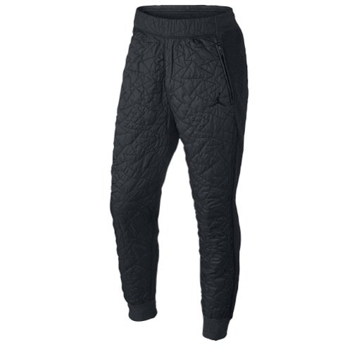 Jordan Men's Nike AJ VII Quilted Fleece Jogger Pants-Black/Dark Gray-3XL by NIKE