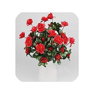 Artificial Flowers Wedding Decoration Azalea Bouquet Spring Decoration Home Decor Fake Plants Indoor 17