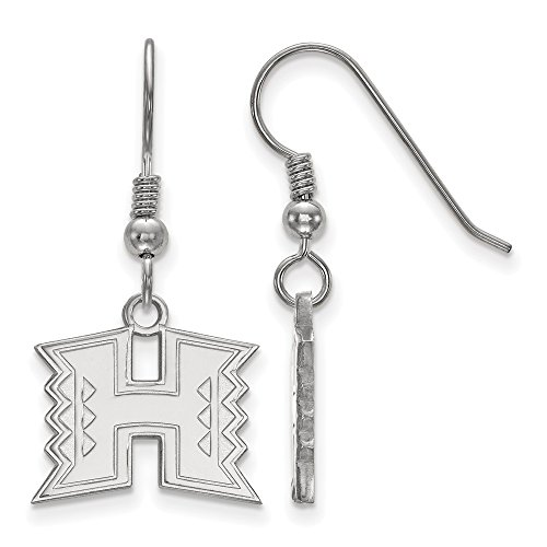 925 Sterling Silver Officially Licensed The University College of Hawai'i Small Dangle Wire Earrings by Mia's Collection