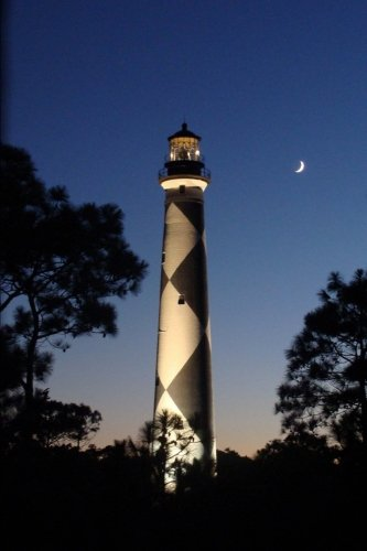 Lighthouse at Night Journal: 150 Page Lined Notebook/Diary ebook