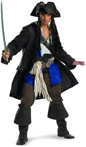 Disfraz Piratas del Caribe Capit-n Jack Sparrow Prestige traje de ...