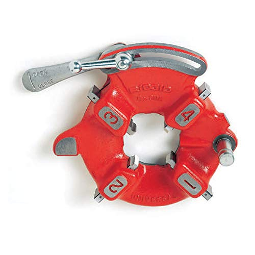 RIDGID 97065 Threading Machine Universal Die Head, Model 811A Quick-Open Right-Handed NPT Die Head with Pipe Capacity of 1/8-Inches to 2-Inches (Heads Die Universal)