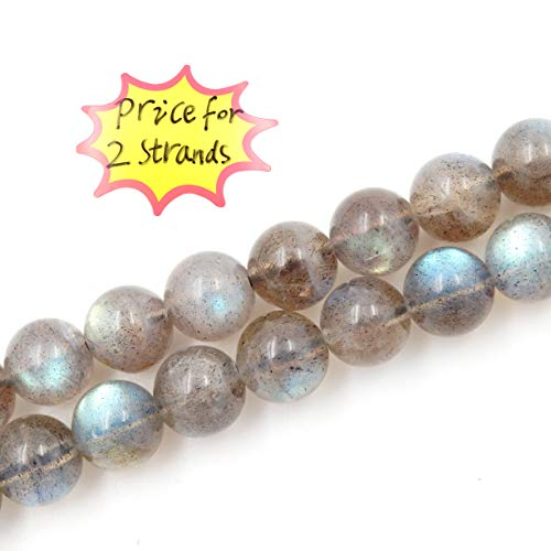 Malahill Precious Gemstone Beads for Jewelry Making, 100% Natural AAA Grade, Sold per Bag 2 Strands Inside (Labradorite, 4mm)