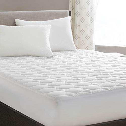 Queen Mattress Pad Cover Quilted Fitted with Stretches to 18