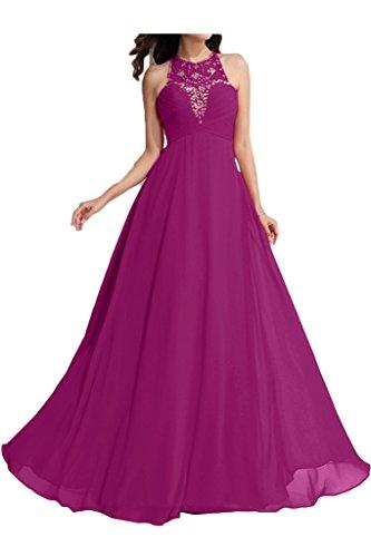 a vestito Fashion linea Fest girocollo della ivyd da Fuchsie Donna Perle sera da festa ressing vestito wIqfSFH