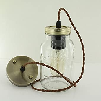 jam jar lights more choice free edison bulb kilner jar. Black Bedroom Furniture Sets. Home Design Ideas