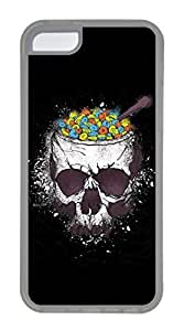 iPhone 5C Case, Customized Protective Soft TPU Clear Case for iphone 5C - Skeleton Meals Cover