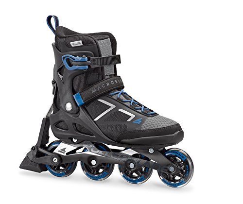 Rollerblade Macroblade 80 ABT Men s Adult Fitness Inline Skate, Black and Blue, Performance Inline Skates