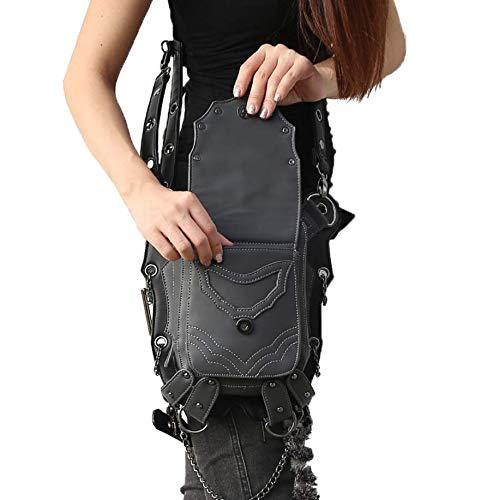 Black1 Bandolera diseño ping de Mujer única negro Bolso para Steampunk Qiu Talla d8Xq4xwX