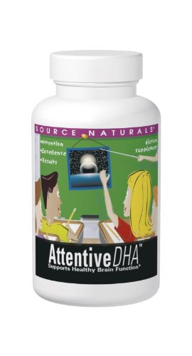 Source Naturals Attentive DHA 100mg Kids Fish-Free, Pure Omega-3 Supplement - 30 ()