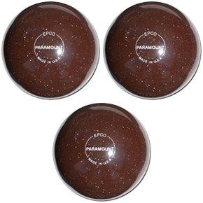 EPCO-Duckpin-Bowling-Ball-Speckled-Houseball-BrownBalls-3-Balls