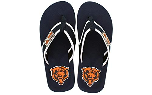 Contour Flip Happy Chicago NFL Feet Feet and Flops Comfy Officially Bears Licensed OqE67